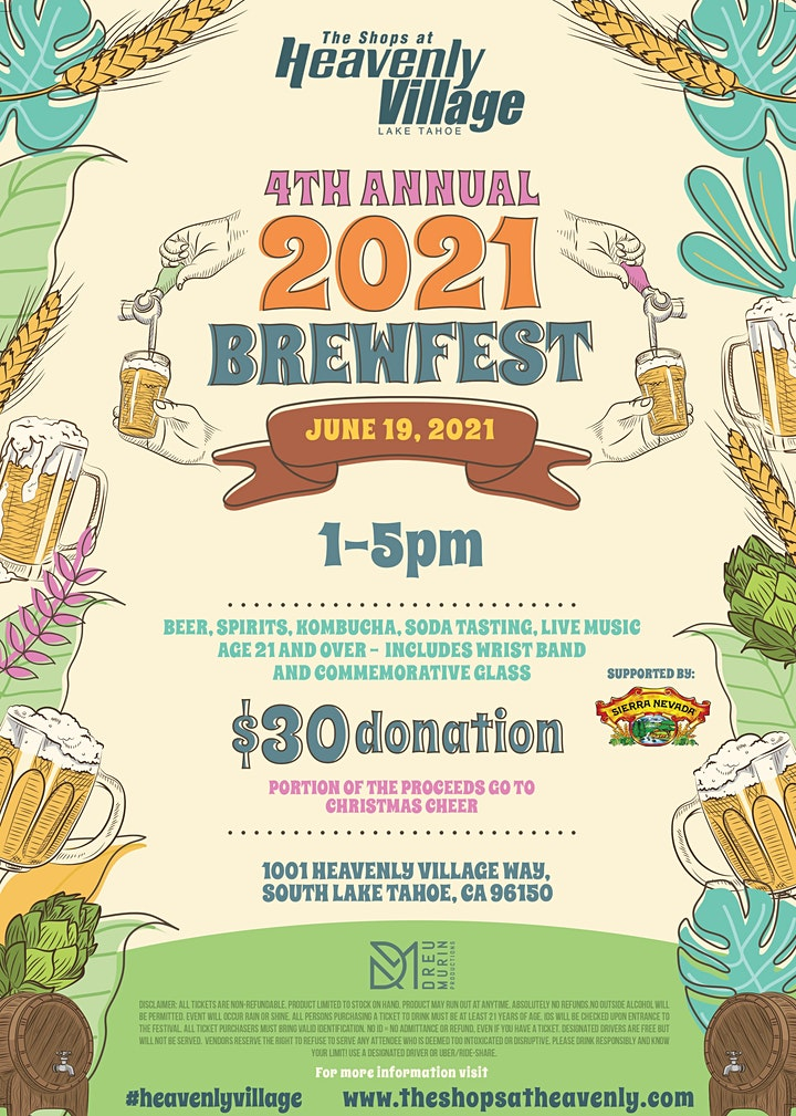 4th Annual Heavenly Village Spring Brewfest image