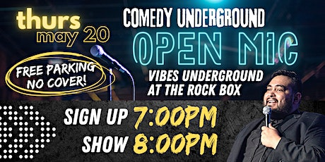 Comedy Underground Open Mic tickets