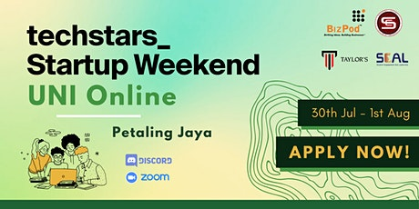 Techstars Startup Weekend UNI Online Petaling Jaya tickets