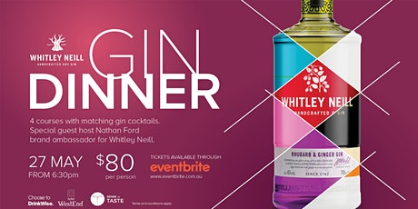Sense of Taste Whitley Neill Gin Dinner tickets