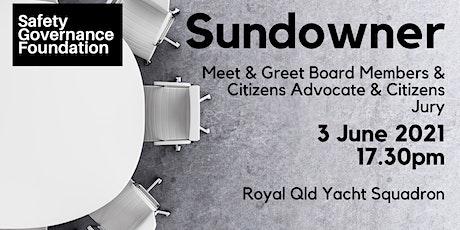 Safety Governance Foundation - Sundowner - Meet Board & CAs & CJs tickets