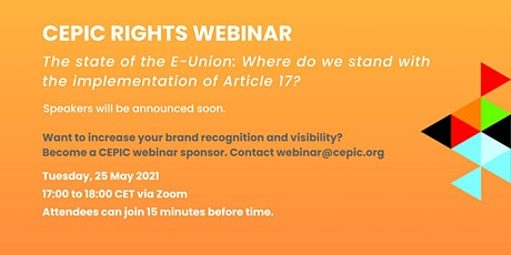 CEPIC Rights Webinar tickets