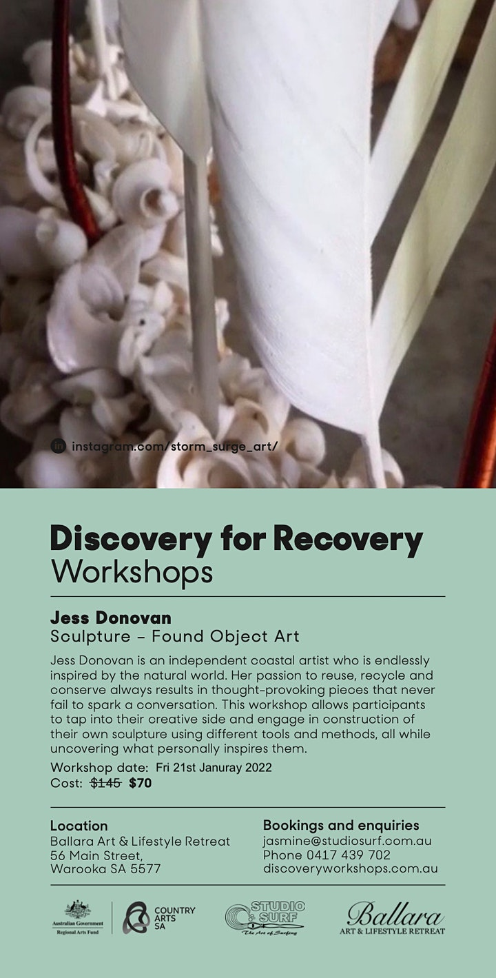 Found Object Sculpture - Discovery Workshop with Jess Donovan image