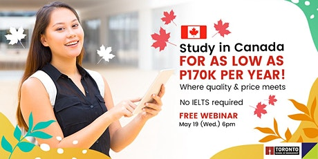 Study in Toronto, Canada for as low as 170k/year tickets