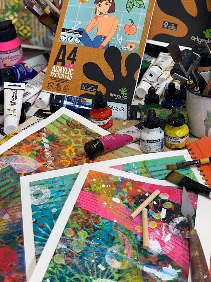 Artgecko Sketch X Jenny Muncaster - Abstract Acrylics Workshop image