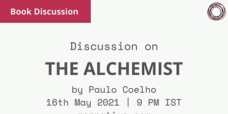 Book discussion: The Alchemist by Paulo Coelho ingressos