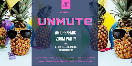 Unmute - an open mic night for poets and writers (Fundraiser for MSF) tickets