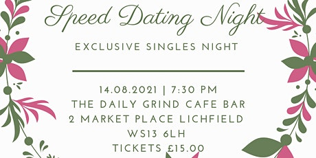 Speed Dating Exclusive Event - Lichfield City Centre tickets
