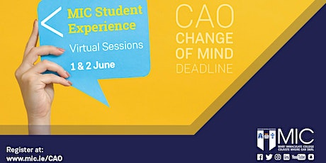 MIC Student Experience: Virtual Sessions tickets