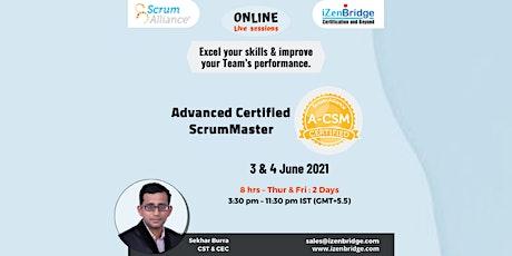 (A-CSM®) – Online Training 3 & 4 June'21 (Online) tickets