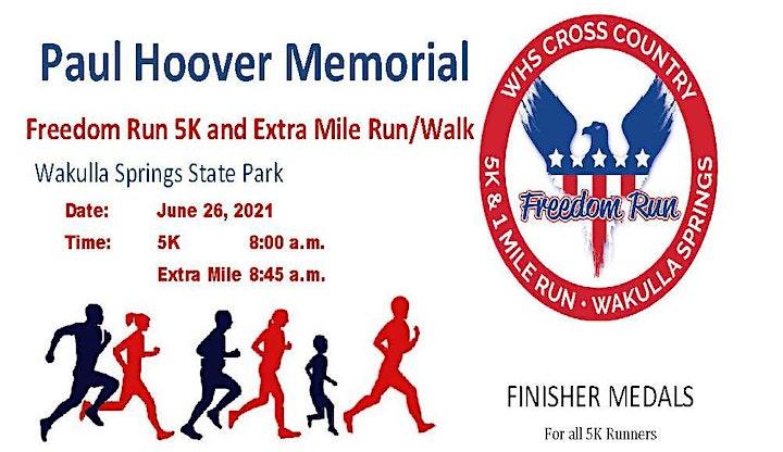 Paul Hoover Memorial Freedom Run 5K & Extra Mile Run/Walk image