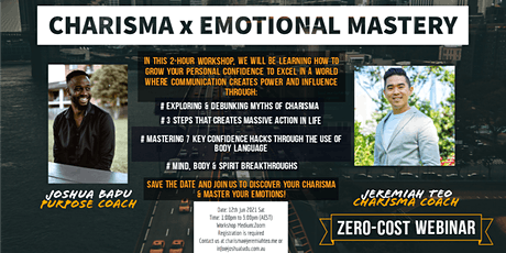 Charisma x Emotional Mastery Webinar tickets
