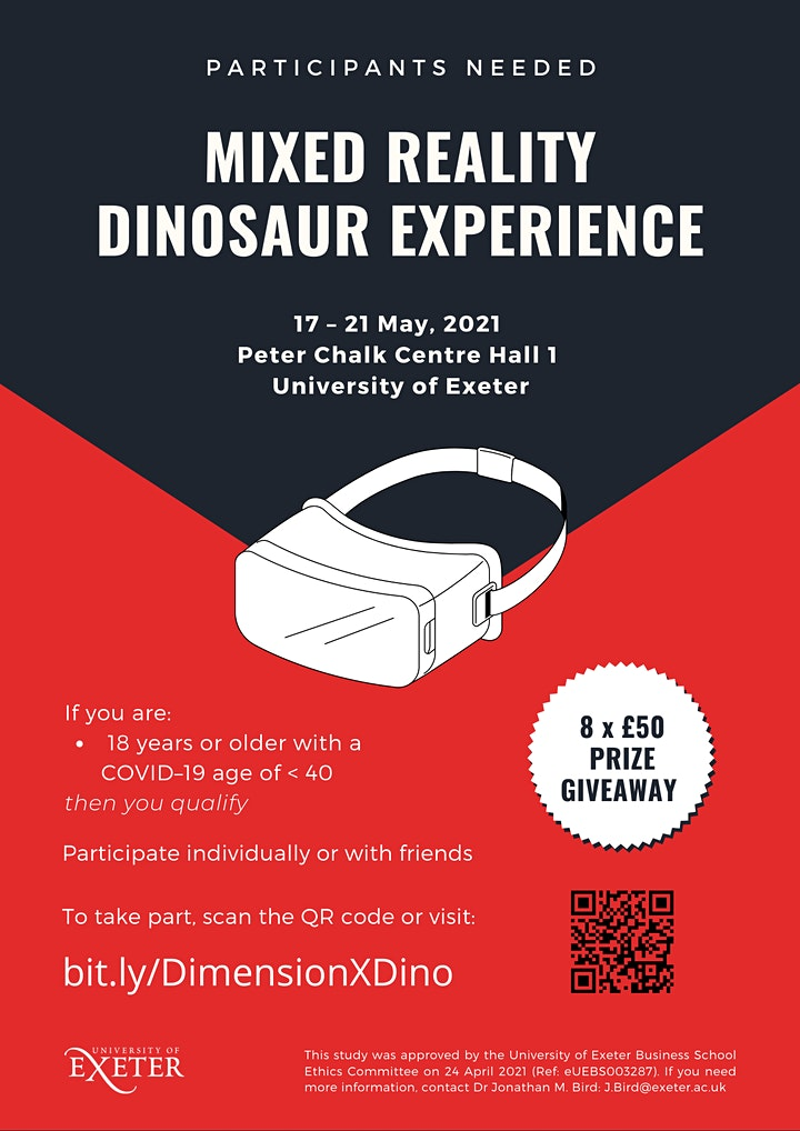Dimension X: Dinosaurs Mixed Reality Research Study image