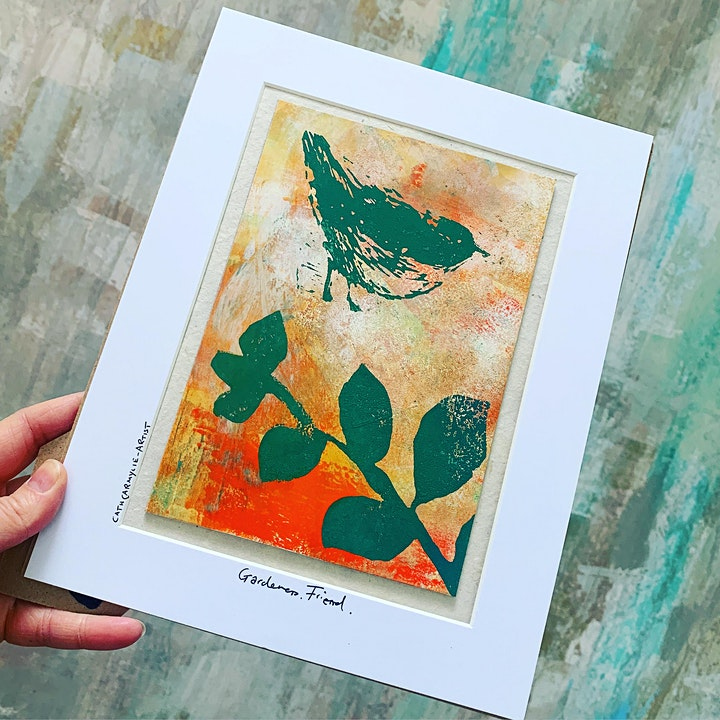 Meet the Maker - Cath Carmyllie Lino Print Artist - Hoylake image