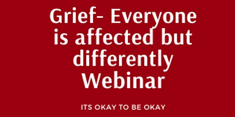 How to live through grief, everyone goes through it but differently. tickets