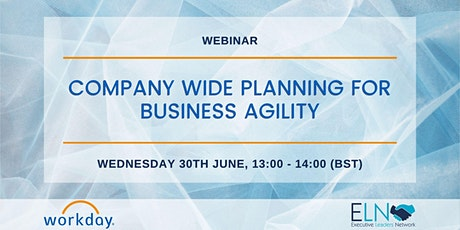 Company Wide Planning for Business Agility tickets