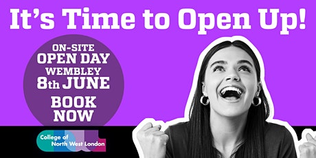 Open Day College of North West London - Wembley Campus -  8th June 2021 tickets