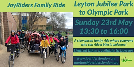 JoyRiders Family Ride: Leyton Jubilee Park to Olympic Park tickets