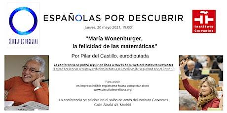 MARÍA WONENBURGER, LA FELICIDAD DE LAS MATEMÁTICAS POR PILAR DEL CASTILLO entradas