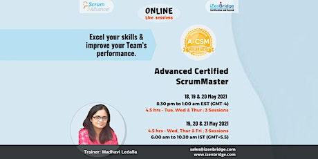 (A-CSM®) – Online Training 19, 20 & 21'21 (Online) tickets