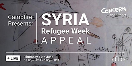 Campfire Presents: Syria Refugee Week Appeal with Concern Worldwide Tickets