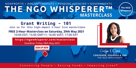 The NGO Whisperer™ Masterclass - Grant Writing - 101 tickets