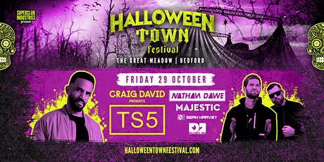 Halloween Town Festival Bedford - DAY 1 - Craig David TS5 + Special Guests tickets