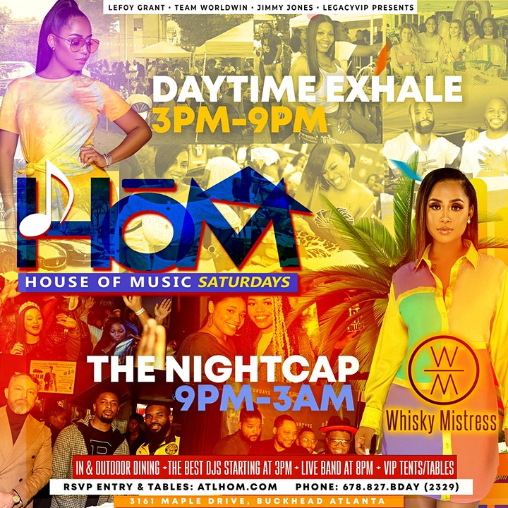 #1 Rated  Saturday HOUSE OF MUSIC Dayparty + Nightcap at Whisky Mistress! image