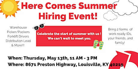 Here Comes Summer Hiring Event tickets
