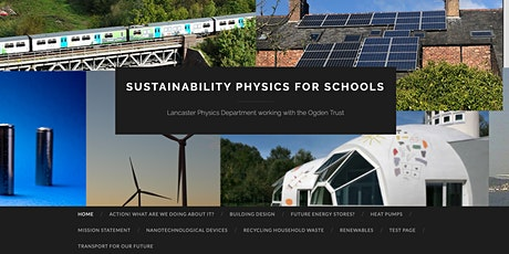Launch of Sustainability Physics for schools (a teaching resource) tickets