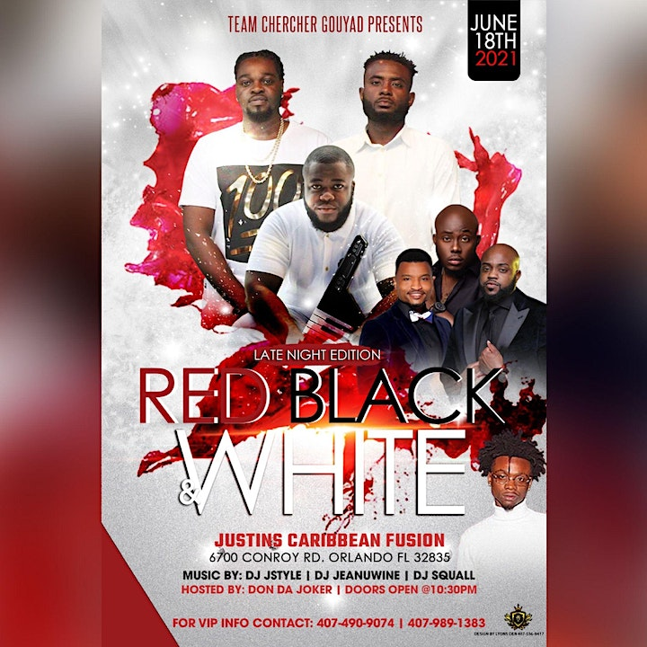 Team Chercher Gouyad Presents: Late Nights Edition a Red,Black N White image