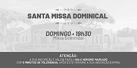 Santa Missa Dominical - Domingo | 09 de Maio 19h30 ingressos