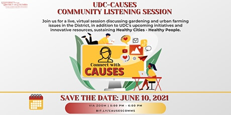 UDC-CAUSES Community Listening Session tickets