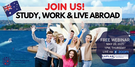 FREE WEBINAR: STUDY AND WORK IN AUSTRALIA tickets