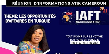 Réunion d'informations sur l'IAFT 2021 billets