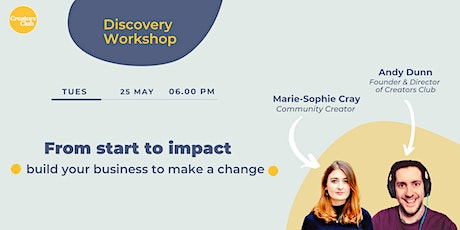 Discovery Workshop | From Start To Impact tickets