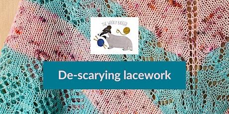 De-scarying lacework - online knitting workshop for Yarncraft festival tickets
