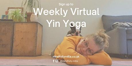 Weekly Virtual Yin Yoga tickets