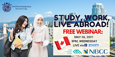 FREE WEBINAR: STUDY, WORK, & LIVE IN CANADA tickets