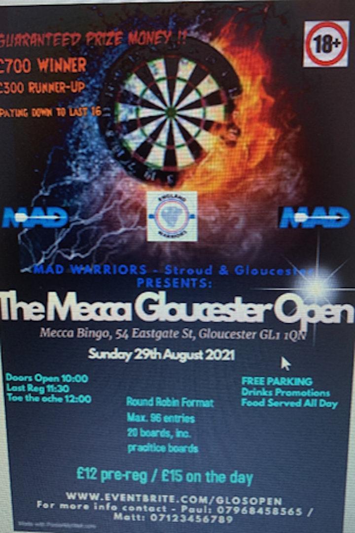 Mecca Gloucester Darts Open image