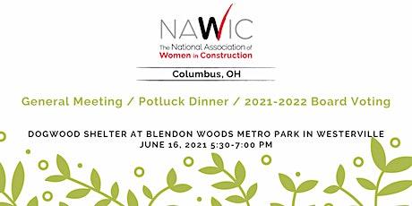 June 2021 - Potluck Dinner & Voting tickets