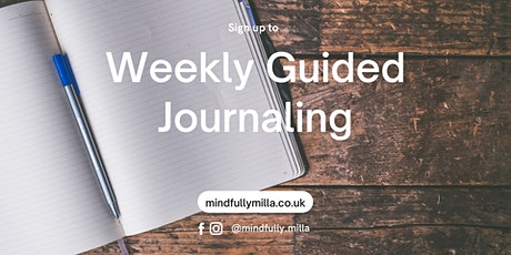 Weekly Guided Journaling for Wellbeing tickets