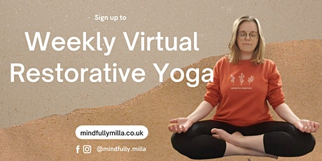 Weekly Virtual Restorative Yoga tickets