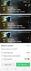 Wireless festival tickets