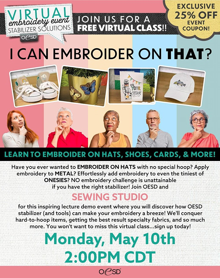 Sewing Studio Virtual Embroidery Event image