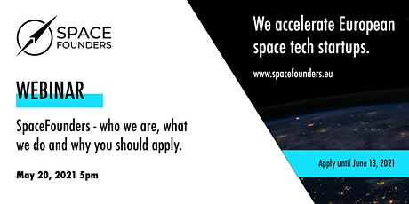 SpaceFounders - the new European  space tech acceleration program Tickets