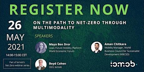 On the path to net-zero through multimodality tickets