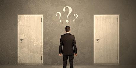 Webinar gratuito: Cómo superar la indecisión 18hs entradas