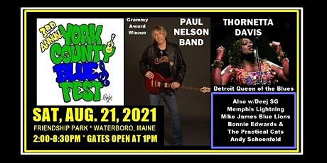 3rd Annual York County Blues Festival -  Southern Maine's Epic 2021 Event! tickets