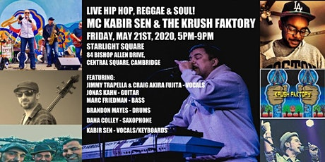 Live Hip Hop, Reggae & Soul! MC Kabir Sen & The Krush Faktory tickets